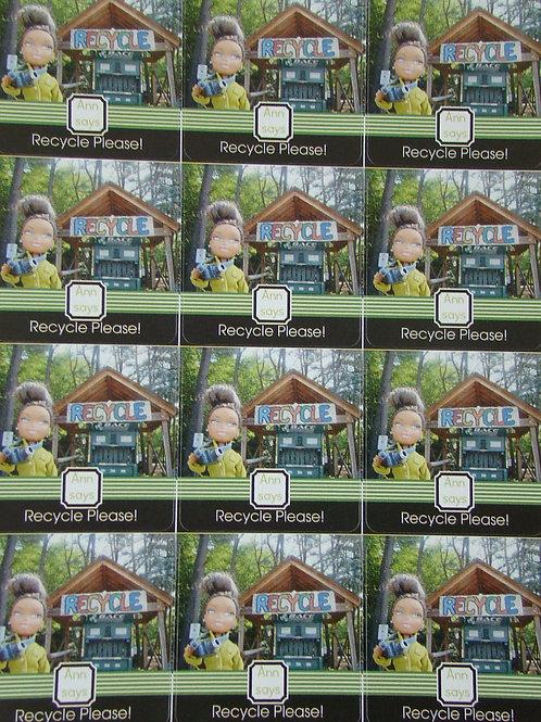 Recycle Please! - 12 Sticker Sheet