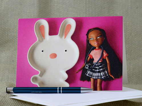 Easter Bunny - Blank Notecard
