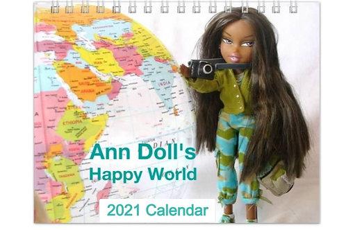 The Happy World of Ann Doll Wall Calendar 2021