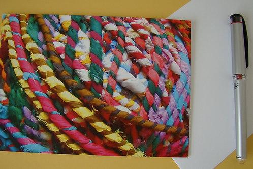 Textile Ball Close Up - Blank Notecard
