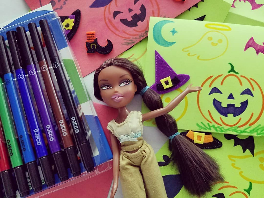 Creating Snail Mail with DJeco Marker: Halloween Snail Mail