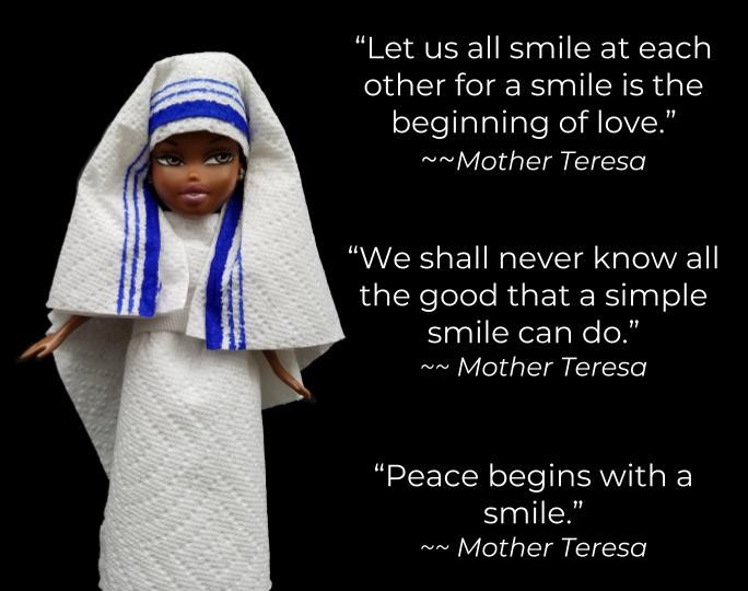 Ann Doll dress as Mother Teresa