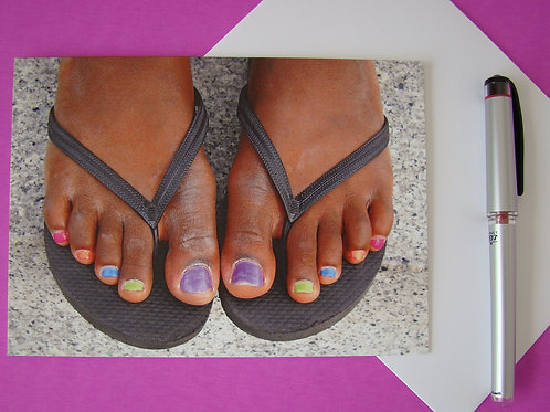 Rainbow Toes - Blank Notecard