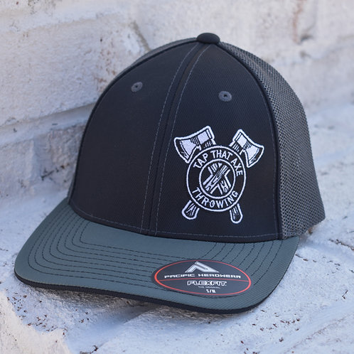 Tap That Axe Throwing Embroidered Logo Flex Fit Trucker Hats