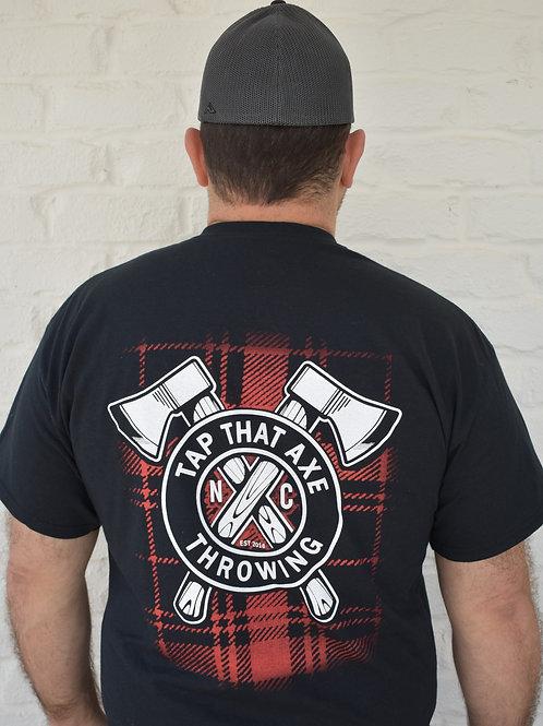 Tap That Axe Throwing Plaid Logo T-Shirt