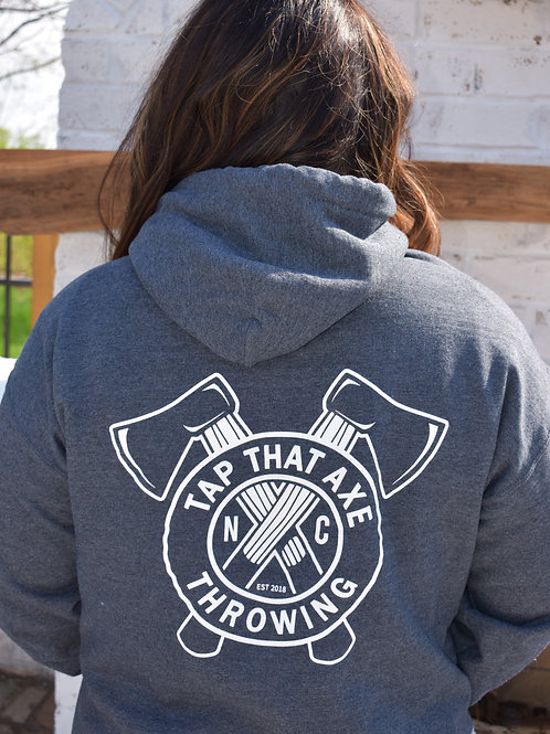 Tap That Axe Throwing Logo Hoodie
