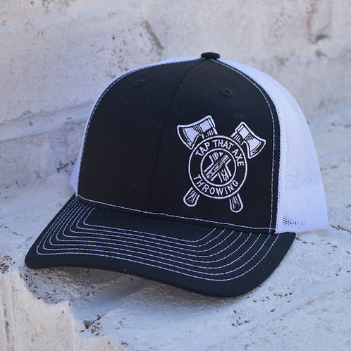 Tap That Axe Throwing Embroidered Logo Snap Back Hats