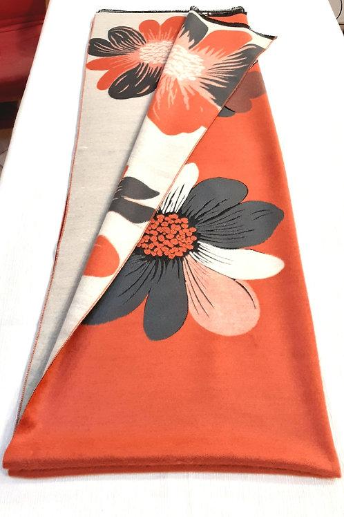 """Sciarpa  """"Orange - cream daisies"""""""