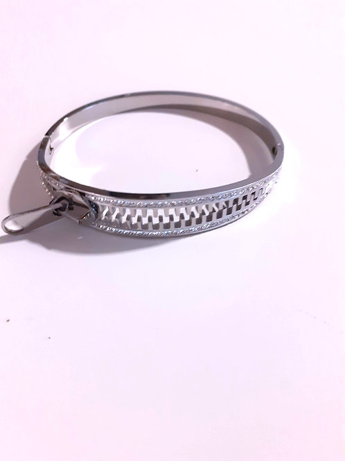 Bracciale acciaio Zipper