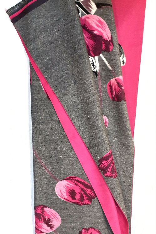"""Sciarpa  """"Grey and pink tulips"""""""
