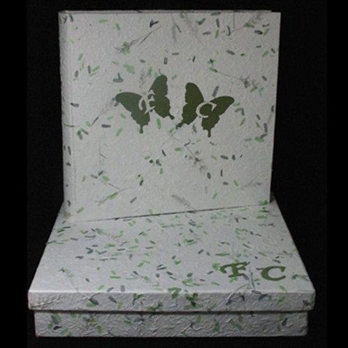Album carta di gelso verde e custodia