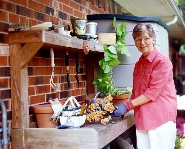 Woman at Garden Bench.JPG