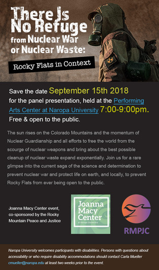 There Is No Refuge From Nuclear War or Nuclear Waste: Rocky Flats in Context, September 15th