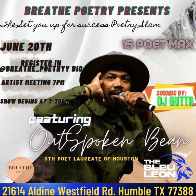 Breathe Poetry event feat Outspoken Bean