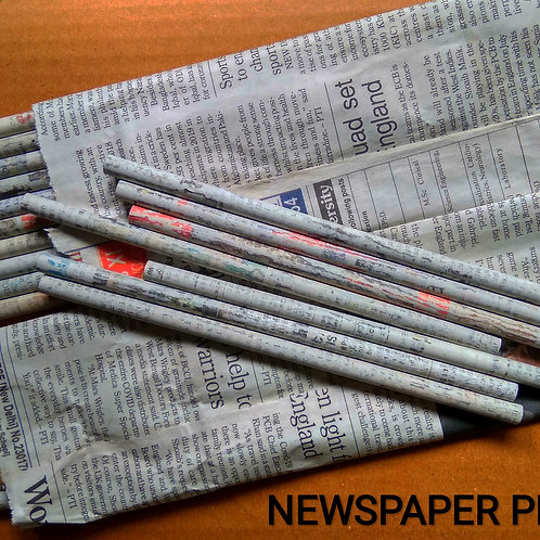 Newspaper pencils