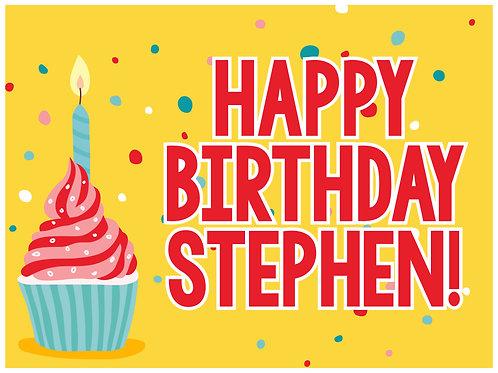 Birthday Cupcake Yard Sign - 1