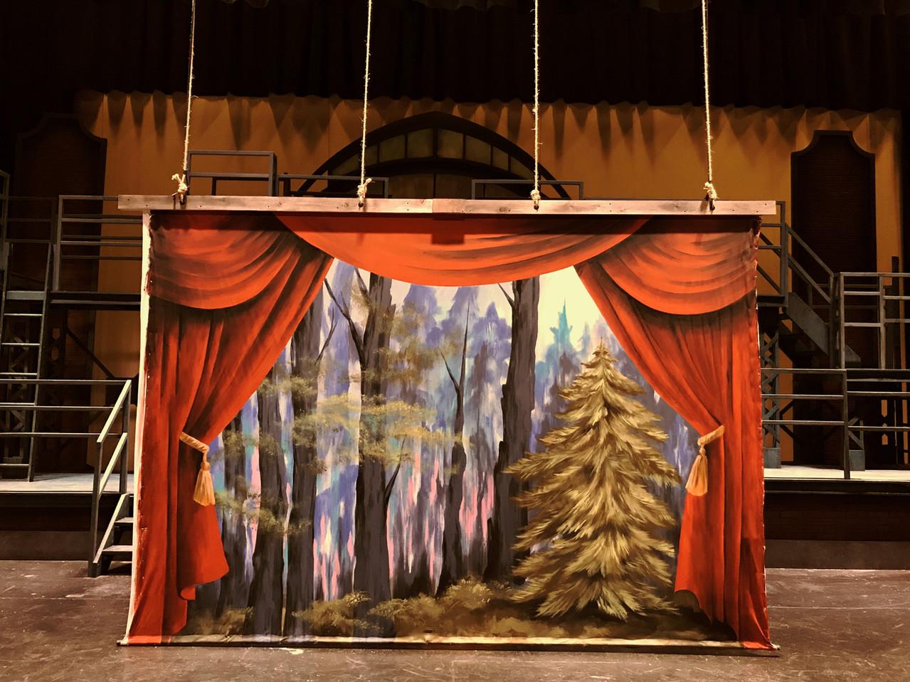 Medda's Theatre 9' x 13' Drop - Pamela Spika, Scenic Paint Charge