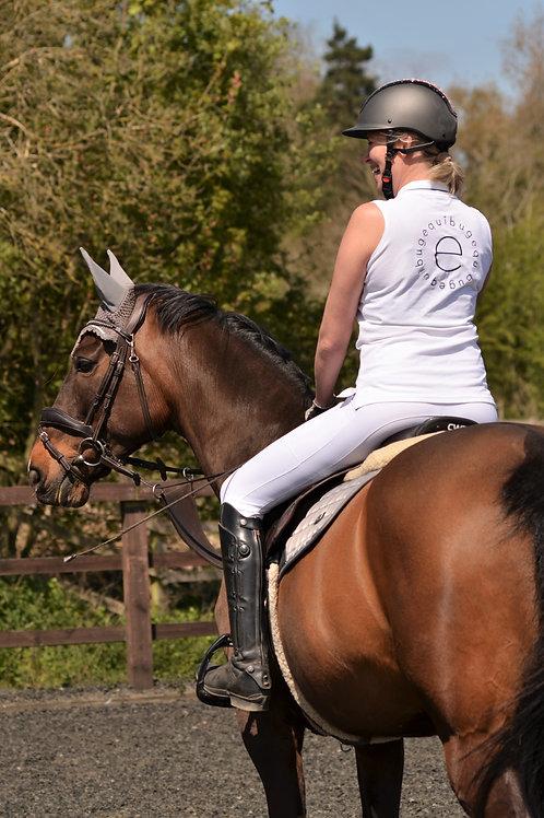 Equibug Sleeveless Polo Shirt - White