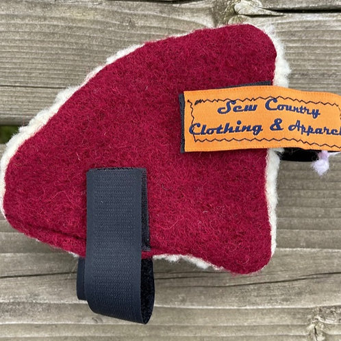 Sew Country Ear Warmers - Dark Red