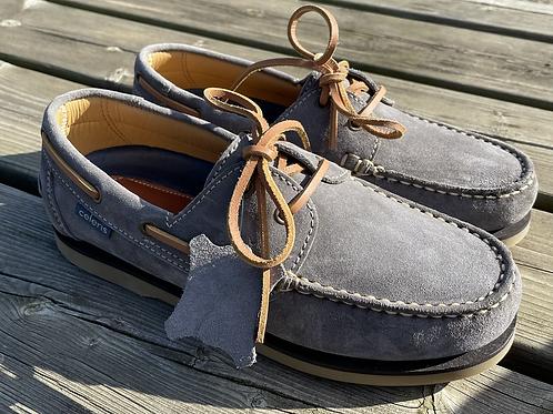 Celeris Deck Shoes - Light Grey Suede