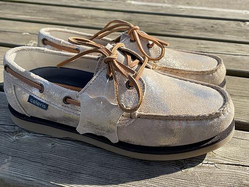 Celeris Deck Shoes - Antique Gold