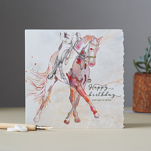 Happy Birthday Dressage Card