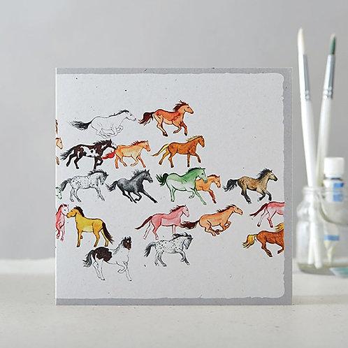 Galloping Herd Card