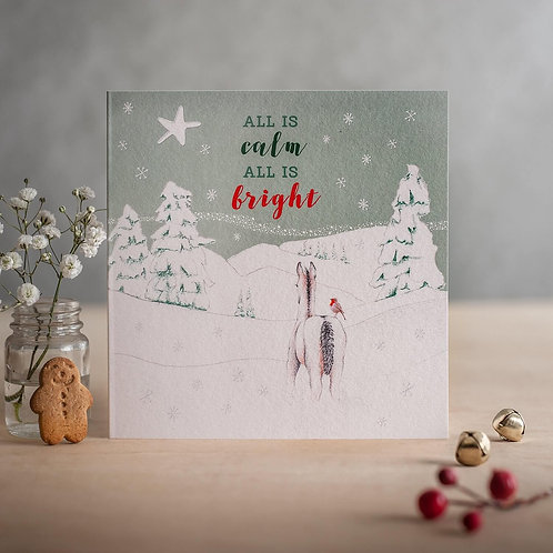 All is calm all is bright, Christmas Card