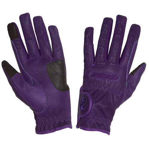 eQUEST Leather Grip Pro Gloves - Purple
