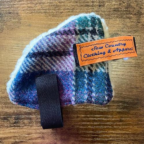 Sew Country Ear Warmers - Navy/Purple/Green Tweed