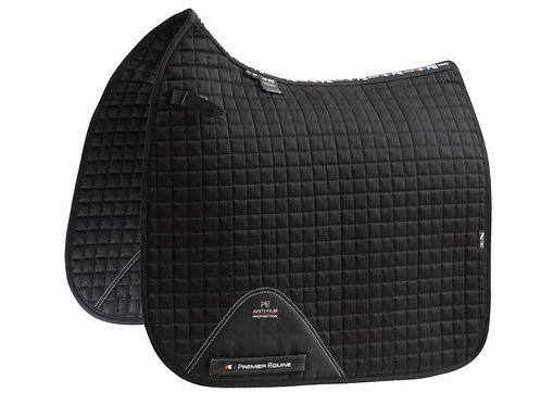 Close Contact Cotton Dressage Saddle Pad - Black