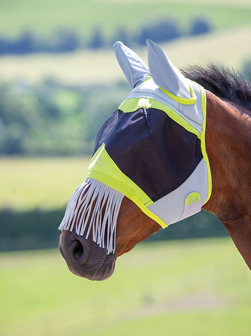 Air Motion Fly Mask with Ears & Fringe