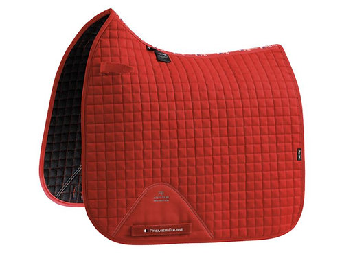 Close Contact Cotton Dressage Saddle Pad - Red