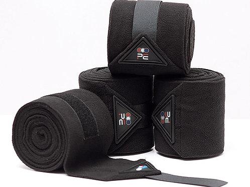 Horse Polo Fleece Bandages - Black