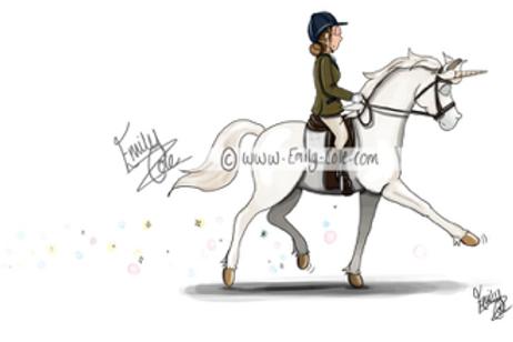 Emily Cole 'Unicorn' Greeting Card