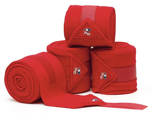 Horse Polo Fleece Bandages - Red