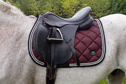 Lustre Saddle Pad - Merlot