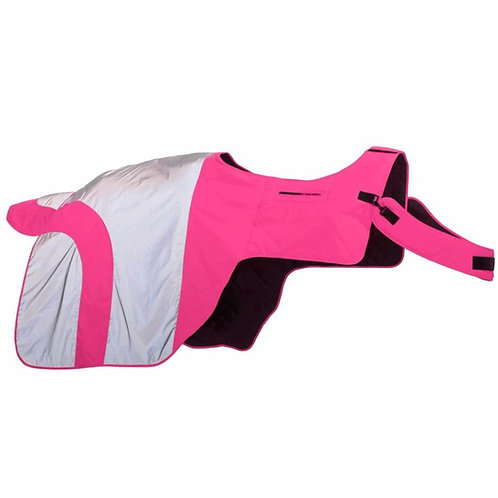 Equisafety Reflective Mercury Horse Exercise Rug - Pink
