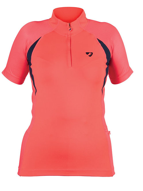 Aubrion Highgate Short Sleeve Base Layer - Coral