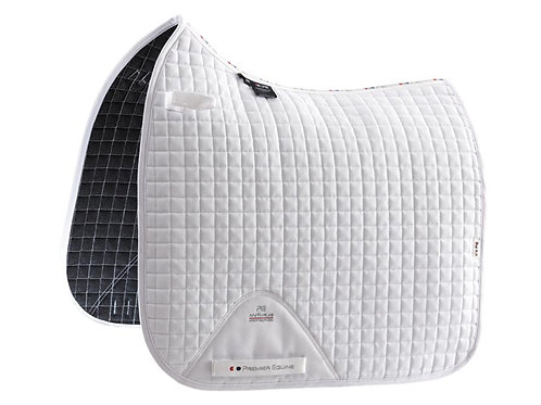Close Contact Dressage Saddle Pad - White