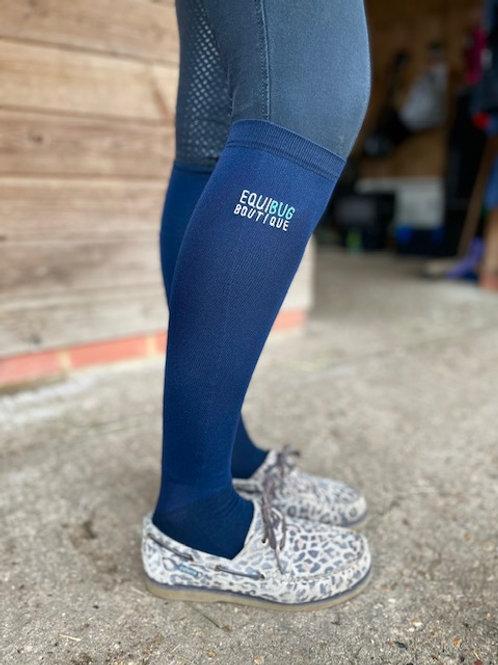 Equibug Long Knee Socks - Navy