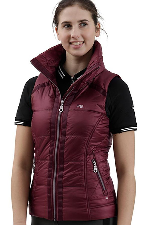 Carmen Quilted Riding Gilet - Wine