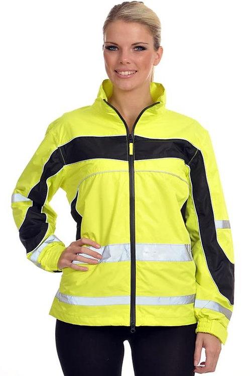 Equisafety Reflective Lightweight Waterproof Jacket -Yellow