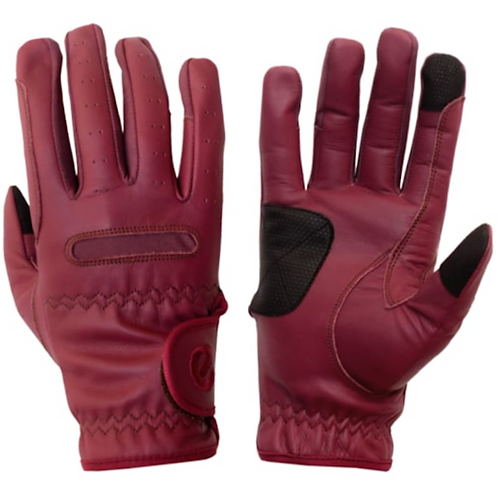 eQUEST Leather Grip Pro Gloves - Merlot