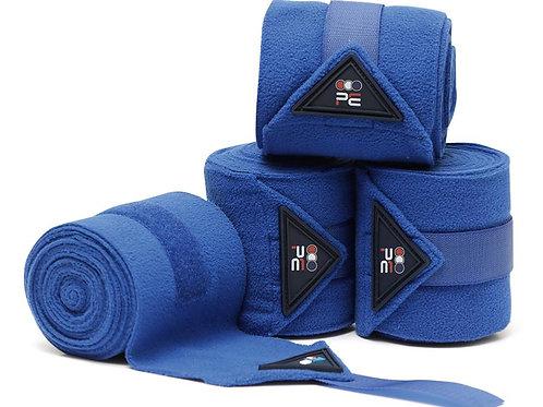 Horse Polo Fleece Bandages - Royal Blue