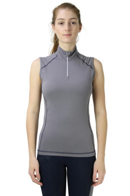 Hy Sport Active Sleeveless Top - Pencil Point Grey