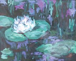 Nymphéas détail 1 d'après Monet