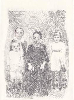 L'arrière grand-mère et ses enfants