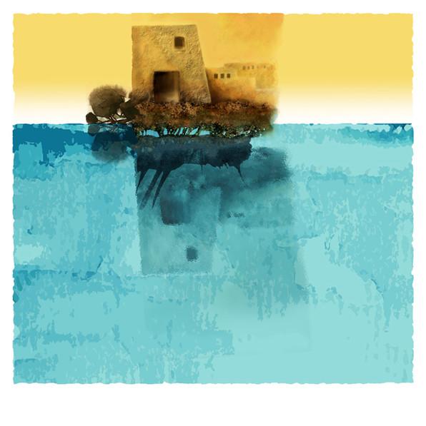 Marée haute I 50x50 cm I © Réf: 14 I Tirages limités à 20 exemplaires.