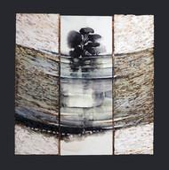 Reflet 1 - Collage - acrylique - technique mixte I 20x20 cm I © Réf: 95 I